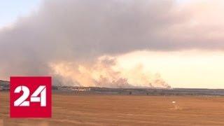 Смотреть видео МЧС: открытое горение возле поселка Пугачево ликвидировано - Россия 24 онлайн