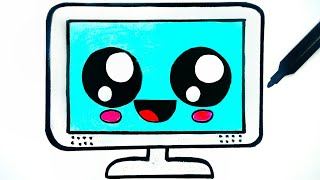 HOW TO DRAW A CUTE TELEVISION