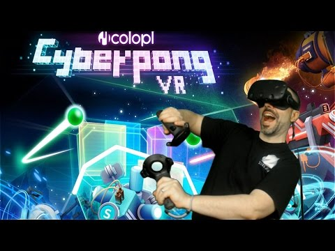 Cyberpong VR Gameplay - Ping Pong in Virtual Reality (HTC Vive Gameplay)