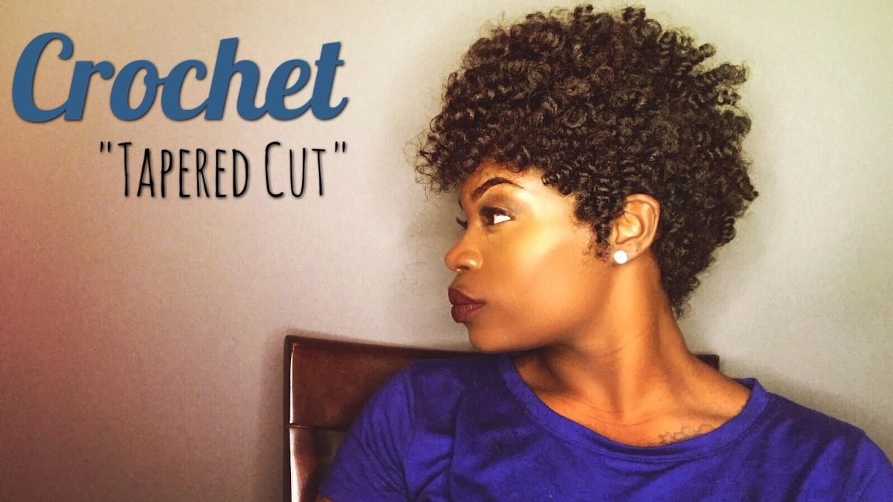 Diy Easy Crochet Tapered Cut Feat Curlkalon Hair Youtube