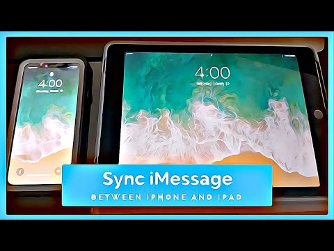 IOS 11 And 12: Sync IMessage Between IPhone And IPad (Patron In Description)