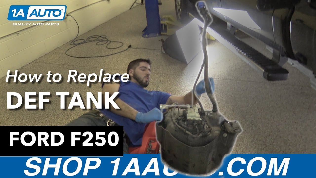 How to replace install def tank 13 ford f250 diesel 1a auto parts