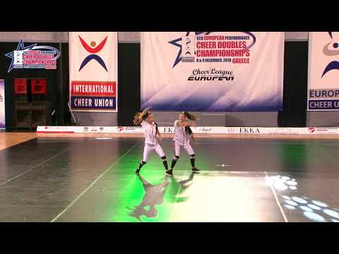 131 JUNIOR DOUBLE CHEER HIP HOP Efthymiou   Vlastarakou AGOP MYRTALI GREECE