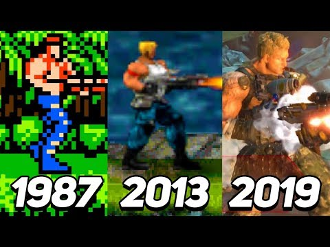 Evolution Of Contra Games 1987-2019