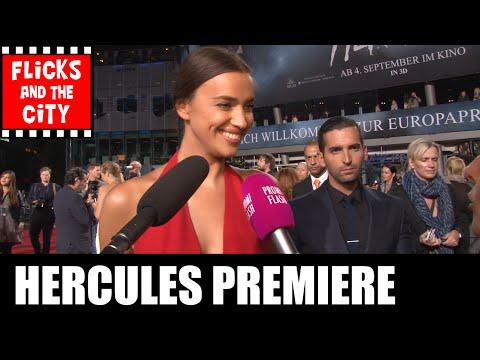 Hercules Berlin Premiere s  Irina Shayk, Ian McShane, Rufus Sewell, Reece Ritchie