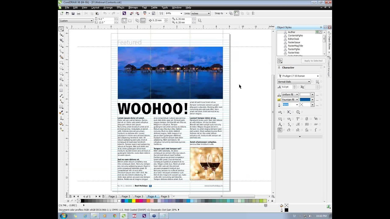 CorelDRAW® Tutorial | Creating Professional Layouts with CorelDRAW Graphics  Suite X6