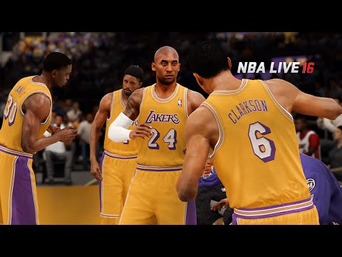 NBA LIVE 16 - Los Angeles Lakers vs Miami Heat Gameplay | Kobe Bryant vs Dwyane Wade