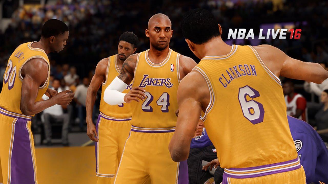 promo code efa5a abfa7 NBA LIVE 16 - Los Angeles Lakers vs Miami Heat Gameplay | Kobe Bryant vs  Dwyane Wade