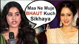 Jhanvi Kapoor REVEALS Mom Sridevi's ADVICE To Her At Dhadak Movie Trailer Launch