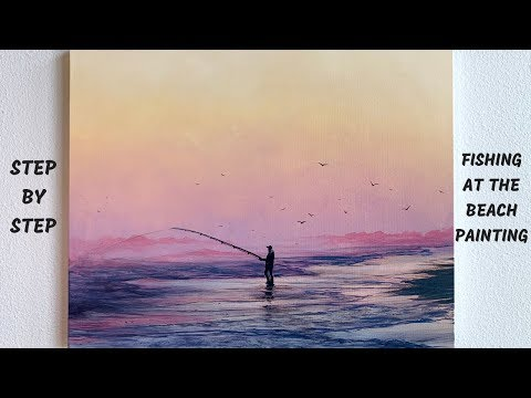 Fishing Seascape STEP By STEP Acrylic Painting (ColorByFeliks)