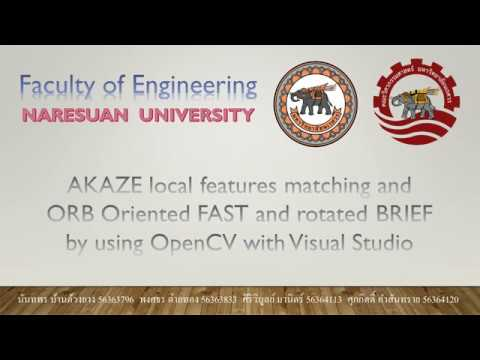 AKAZE and ORB by using OpenCV with Visual Studio