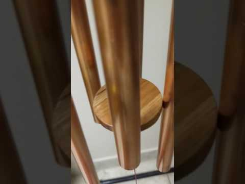 Oak and cherry box wood wind chimes - C9 Chord