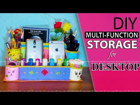 DIY Multi-Function Storage or Multi-Holder for desktop decoration