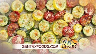 What's for Dinner? - Roasted Garlic-Parmesan Zucchini, Squash and Tomatoes