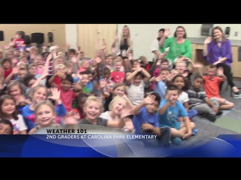 Rob Fowler visits the 2nd grade at Carolina Park Elementary School for Weather 101