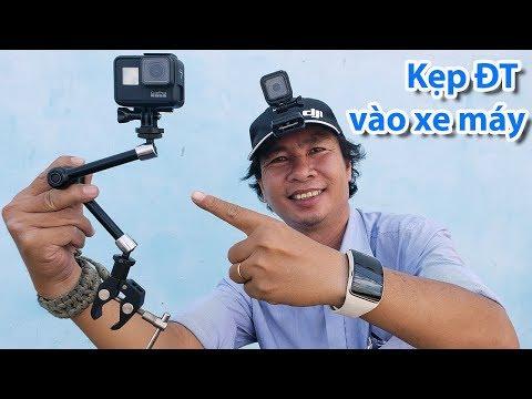 ➤ Hướng Dẫn Cách Lắp ĐT - Gopro Vào Xe Máy để Selfie Khi đi Phượt ?