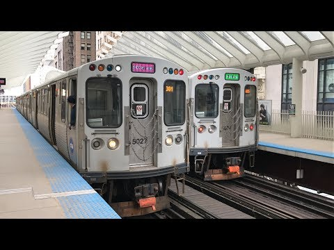 """CTA HD 60fps: Chicago """"L"""" Trains on The Loop [All Stations] February 2019"""