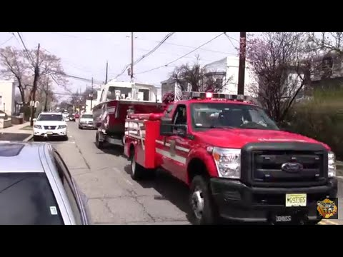 Kearny Fire Department Quick Attack with Marine 3 And Car 3(Deputy 5) Responding