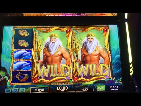 Mega huge win on king of Atlantis slot machine by IGT (handpay)
