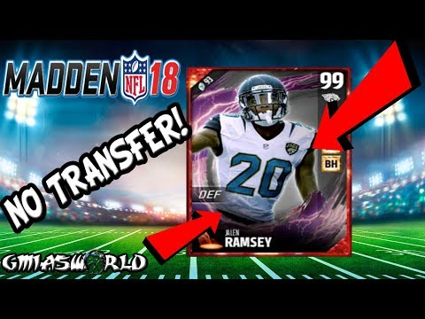 Madden 18: 99 Cover Set Tom Brady, 99 Jalen Ramsey Will Not Transfer To MUT 18 | Mut Master Vouchers