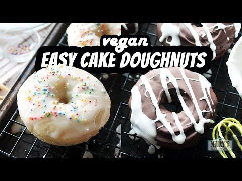 EASY VEGAN CAKE DOUGHNUTS   Recipes by Marys Test Kitchen