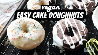EASY VEGAN CAKE DOUGHNUTS | Recipes by Mary