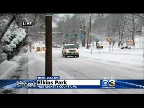 Todd Reports On Weather Conditions In Elkins Park.