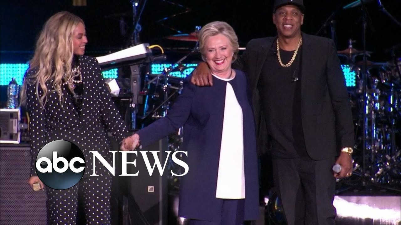 Clinton Campaigns with Beyonce, Katy Perry & Other Celebrities