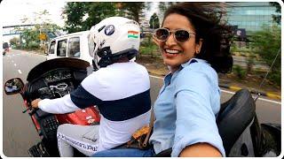Riding My Honda Gold wing With Actress Surabhi/ചിരിക്കാനുള്ള വകയുണ്ട് 😂