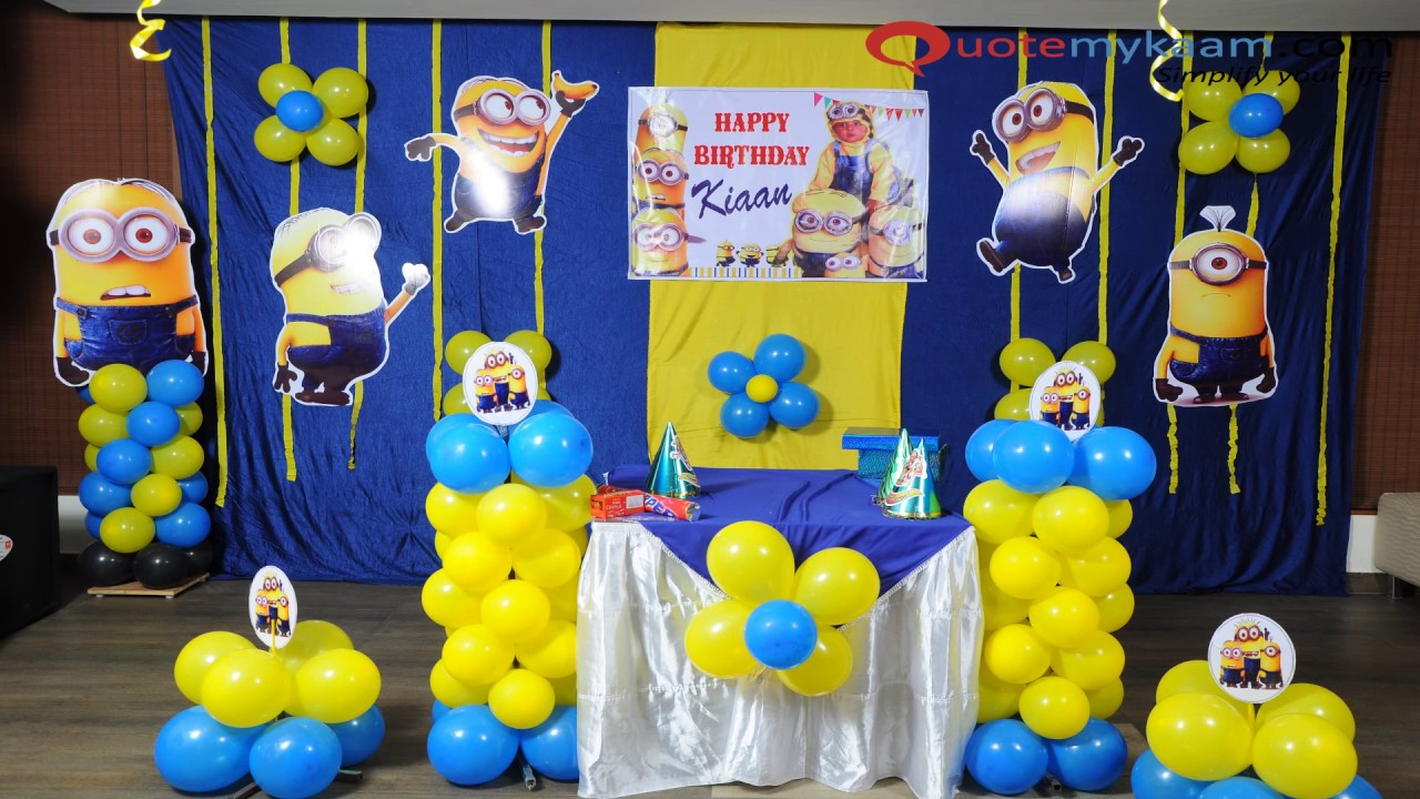 Minion Theme Decoration Ideas
