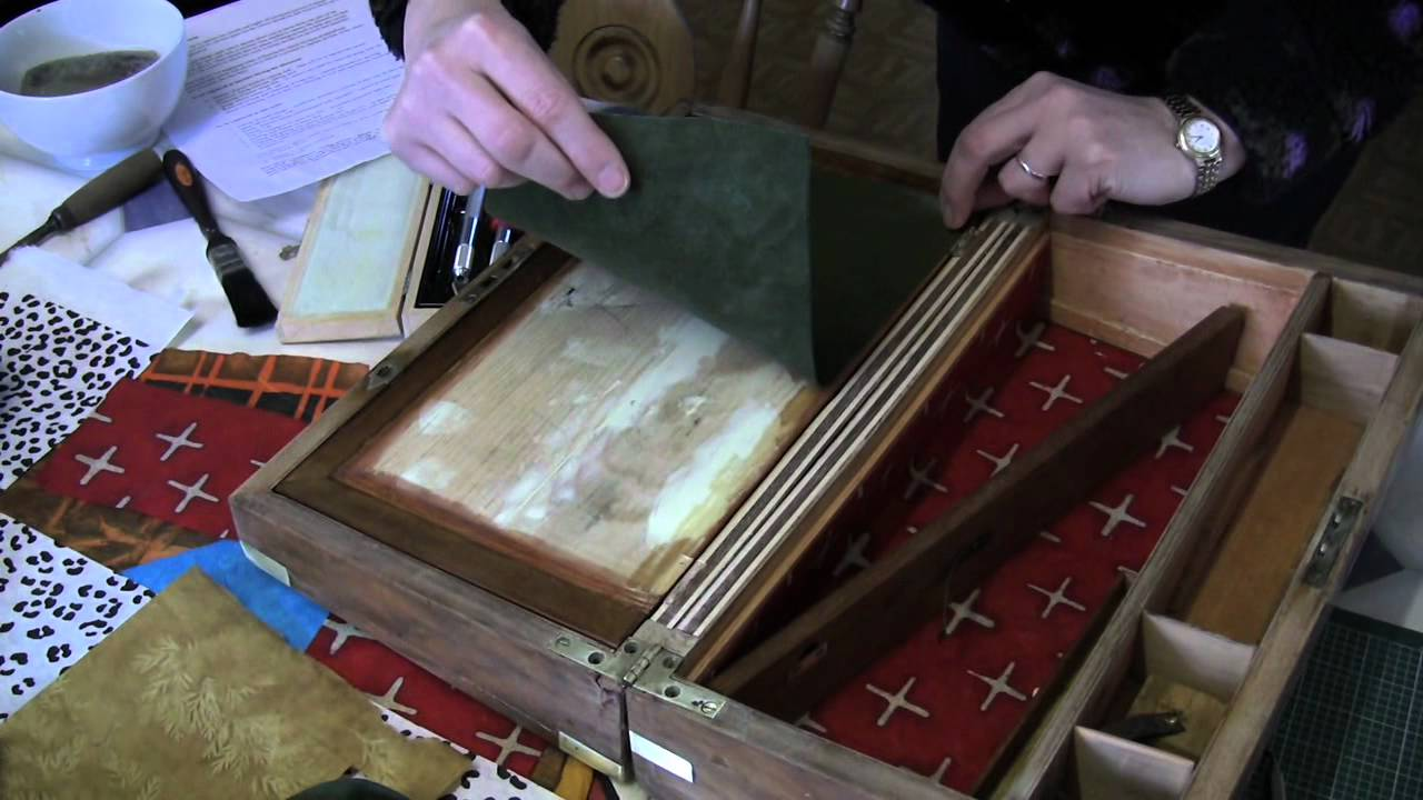 Restoring Antique Leather Restoring An Antique Box Jackdaw Boxes Youtube