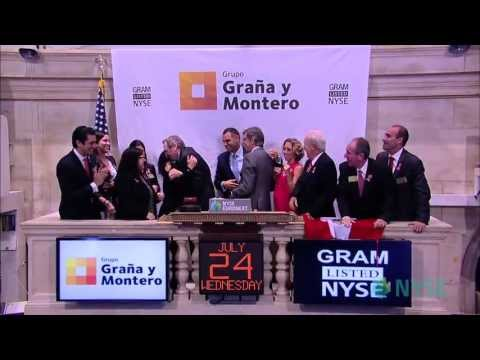 Graña y Montero Makes Public Debut on the New York Stock Exchange