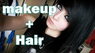 EMO/SCENE makeup and hair tutorial 2013