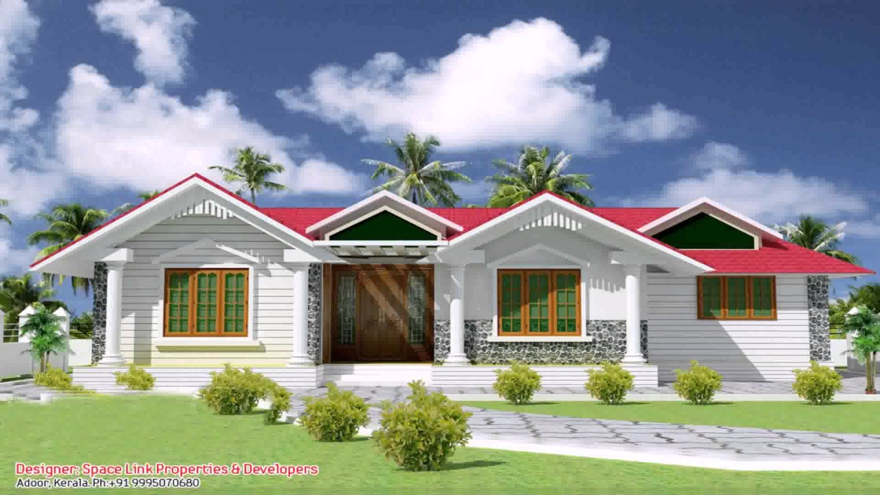 Single floor house front elevation design india youtube for Single floor house elevation designs