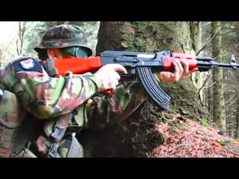 Airsoft War AK47 G36C M1A1 Ares Scar POW Scotland