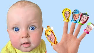 Finger Family Song with Dasha Nursery Rhymes & Kids Songs
