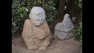 猿石は江戸時代の元禄15年(1702)に欽明天皇陵の南の田んぼ(字イケ田...