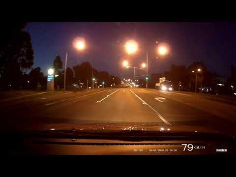 Uniden Igo 80 4k Wifi Dash Cam Night Test.