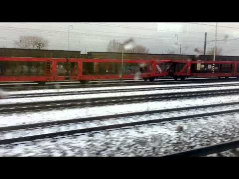 Budapest to Prague by Hungarian Train EC 172 (January 2016)