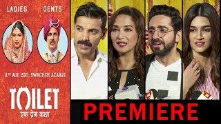 Toilet Ek Prem Katha Movie Premiere | John Abraham, Madhuri Dixit, Ayushmann Khurrana, Kriti Sanon