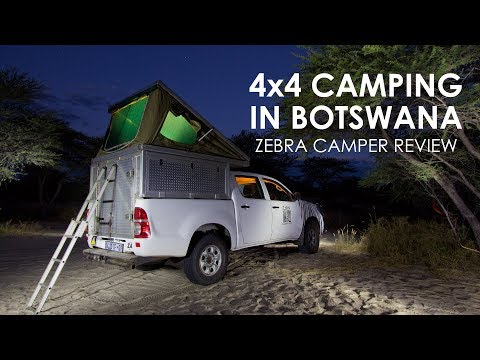 Botswana camping in a roof top tent, Zebra Camper Hire 4x4 review