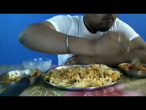 Eating Fried Rice with Kadai Paneer & Mix Veg Curry/By - SAVAGE FOODY