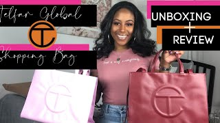TELFAR SHOPPING BAG UNBOXING & REVIEW | What's Tea?  + Pack It With Me!