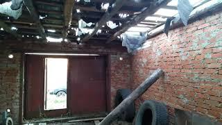 ремонт гаража, своими руками, замена крыши, пола,покраска фасада
