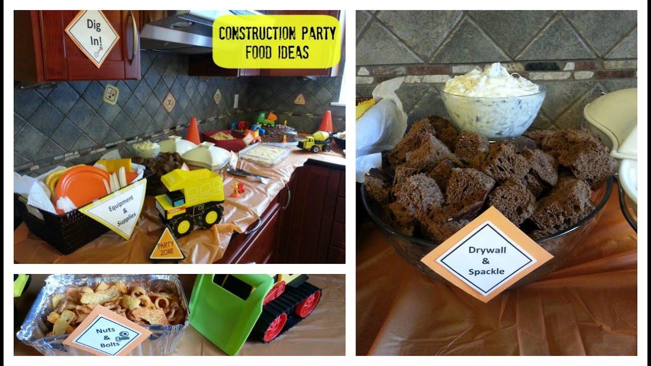 Birthday Party Ideas Construction Birthday Party Food Ideas YouTube