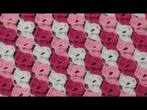Cobija 3 Colores Crochet - YouTube