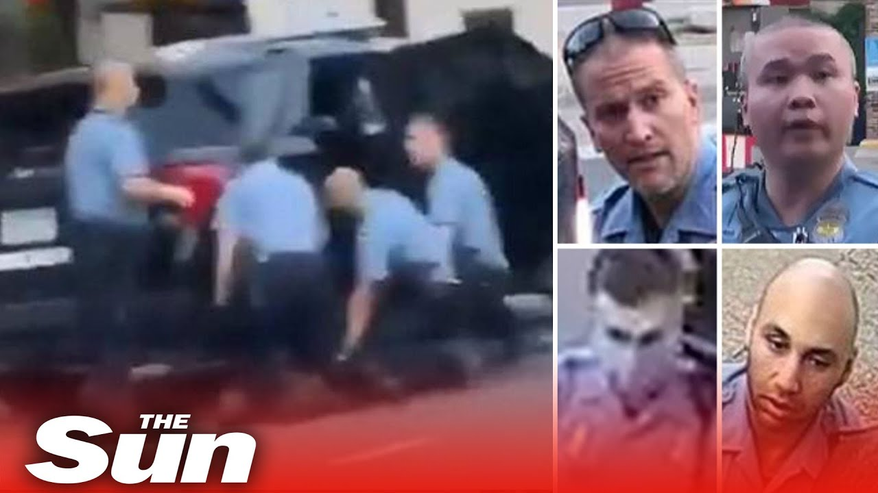 All Four Cops Charged Over George Floyd S Death Killer Derek Chauvin Faces Second Degree Murder Youtube