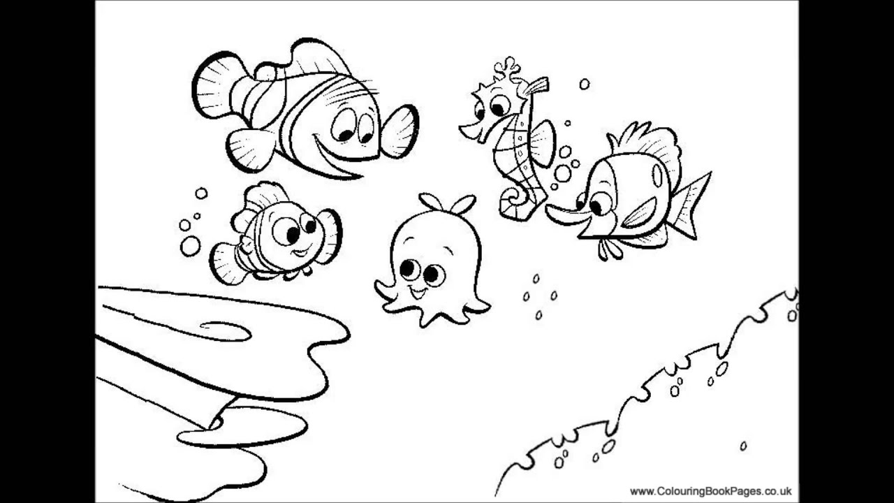 finding nemo Colouring Pages and Kids Colouring Game - YouTube