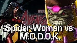 heroic battle spider woman vs modok