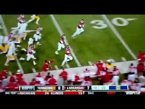 Joe Adams Punt Return Kick For Touchdown